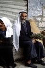 Israel, Jerusalem, old Arab sitting on the kerb