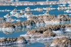 Israel, the Dead Sea,  salt formations