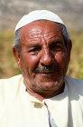 Israel, portrait of an Arab in a vineyard