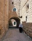Israel, Bethlehem, Arab woman in a back street