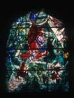 Gad, one of the twelve tribes of Israel, 1962 stained glass by Marc Chagall, Abbell Synagogue, Hadassah Medical Centre,  Jerusalem, Israel