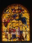 Levi, one of the twelve tribes of Israel, 1962 stained glass by Marc Chagall, Abbell Synagogue, Hadassah Medical Centre, Jerusalem