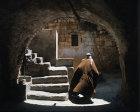Israel, Bethlehem, Arab in old courtyard