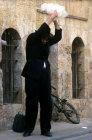 Israel Jerusalem a religious Jew performs the Kaparot ritual ahead of Yom Kippur Judaism