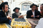 Israel Jerusalem religious Jews buying roosters for the Kaparot ritual ahead of Yom Kippur