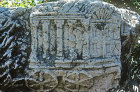 Ark of the Covenant, relief in synagogue, Capernaum, Israel