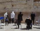 Israel, Jerusalem, Orthodox Jews praying at the Western Wall