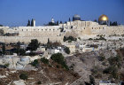 El Aksa Mosque and the Dome of the Rock, City of David bottom left, Jerusalem, Israel
