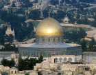 Israel, Jerusalem, the Dome of the Rock with the Mount of Olives in the background