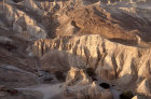 Israel, Wadi Zohar in the Judean hills, Nabataean fortress, later used by Byzantines, aerial view