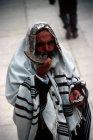 Israel Jerusalem Orthodox Jew blowing a Shofar at the Western Wall
