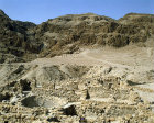 Israel, Qumran, the Essene settlement looking west over the cistern