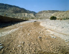 Israel, dried up river in the foothills of the Judean Hills