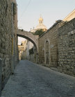 Israel, Jerusalem,  the Via Dolorosa,  the Ecce Homo Arch is the second one, Dome of the Chapel of the Flagellation
