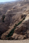 Israel, Judean Hills, the old Jericho to Jerusalaem road above springs in Wadi Qilt