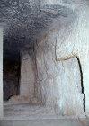 Israel, Jerusalem, St Peter in Gallicantu, passageway through doorway beneath Caiaphas House