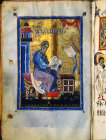 Israel, Jerusalem, the Armenian Cathedral, St Matthew, a detail from one of their illuminated manuscripts, 12th century