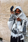 Israel Jerusalem Jew sounding the Shofar at the Western Wall