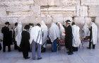 Israel, Jerusalem, Western Wall, morning prayers with shawls