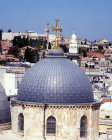 Israel, Jerusalem, Dome of the Church of the Holy Sepulchre from Tower of the Redeemer