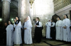 Israel, Jerusalem, The Holy Sepulchre Church, Roman Catholic Nuns at the 13th station of the cross