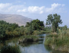 Israel, the River Harod and the Gilboa range beyond