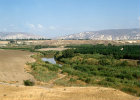 Israel, a loop of the river Jordan and the mountains of Gilead