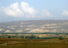 Israel, the Mountains of Gilead in Jordan seen across the Jordan Valley