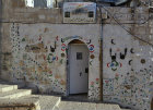 Israel, Jerusalem, doorway of a muslim House where the owner has been to Mecca