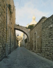 Israel, Jerusalem, the Via Dolorosa and the Ecce Homo arch