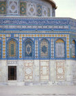 Israel, Jerusalem, the Dome of the Rock, detail of the 16th century tiles