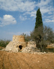 Israel stone watch tower in Samaria