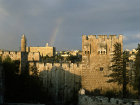 Israel, Jerusalem, the Citadel, minaret and north west tower