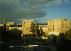 Israel, Jerusalem, the Citadel, Tower of David  on the right  just after sunrise