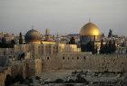 Israel, Jerusalem,  Dome of the Rock and El Aksa Mosque at sunrise
