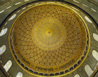 Israel, Jerusalem, the Dome of the Rock,  detail of the  Dome interior