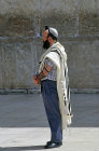 Israel, Jerusalem, a Sephardic Jew standing by the Western Wall