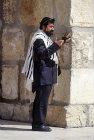 Israel, Jerusalem, an Orthodox Jew at the Western Wall