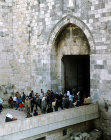 Israel, Jerusalem, the Damascus  Gate in the Northern City Wall