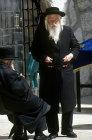 Israel, Jerusalem, an old Orthodox Jew near the Western Wall