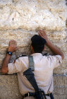 Israel, Jerusalem, an Israeli soldier at the Western Wall