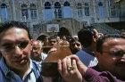 Israel, Jerusalem, Via Dolorosa, Good Friday Procession, Roman Catholic Arabs carrying the cross