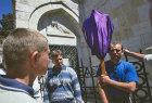 Israel, Jerusalem, Via Dolorosa, Good Friday Procession, Polish Roman Catholic Pilgrims at the third station of the cross