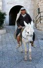 Israel, Jerusalem, Arab on a donkey