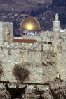 Israel, Jerusalem, Citadel and  Dome of the Rock from the west
