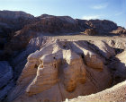 Qumran caves where Dead Sea Scrolls found, Israel