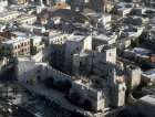 Israel, Jerusalem, aerial view of the citadel in the old city