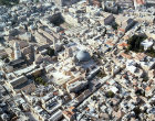 Israel, Jerusalem, aerial view of the Holy Sepulchre