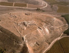 Israel, aerial view of Lachish Tel from the north west