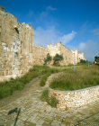 Israel, Jerusalem, the City Walls north of the Lion Gate